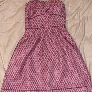 Strapless Pink Polka Dotted Dress